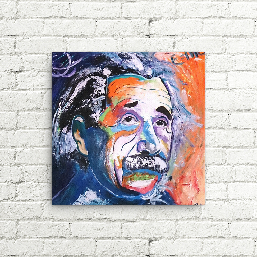 Einstein Canvas Print - Jose De Olio